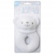 RT21-W: White Bear Rattle Toy