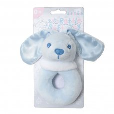 RT26-B: Blue Bunny Rattle Toy
