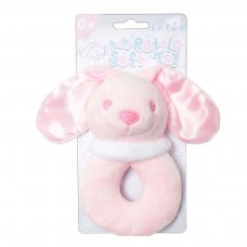 RT26-P: Pink Bunny Rattle Toy