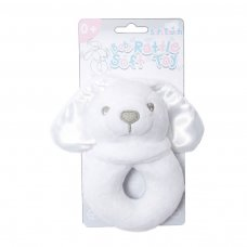 RT26-W: White Bunny Rattle Toy
