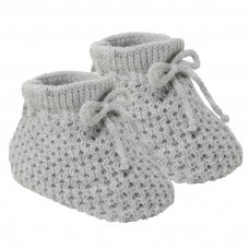 S401-G: Grey Acrylic Baby Bootees