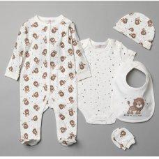 T19887: Baby Lion 6 Piece Mesh Bag Gift Set (NB-6 Months)