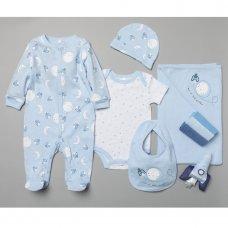 T19898: Baby Boys Rocket 10 Piece Mesh Bag Gift Set (NB-6 Months)