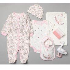 T19900: Baby Girls Goose 10 Piece Mesh Bag Gift Set (NB-6 Months)