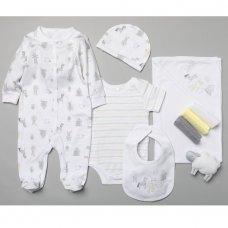 T19901: Baby Unisex Farm 10 Piece Mesh Bag Gift Set (NB-6 Months)