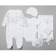 T19902: Baby Unisex Bunny 10 Piece Mesh Bag Gift Set (NB-6 Months)