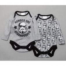 T19908: Baby Stormtrooper 2 Pack Bodysuits (0-12 Months)