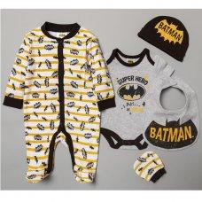 T19917: Baby Batman 5 Piece Gift Set (NB-6 Months)