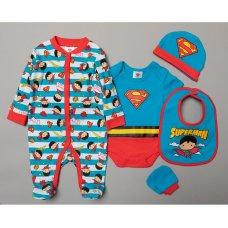 T19920: Baby Superman 5 Piece  Gift Set (NB-6 Months)