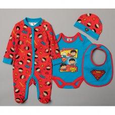 T19921: Baby Superman 5 Piece Gift Set (NB-6 Months)