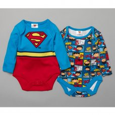 T19922: Baby Superman 2 Pack Bodysuits (0-12 Months)