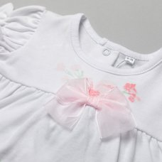 T20009: Baby Girls Floral Top & Short Outfit (0-12 Months)
