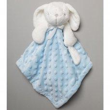 T20045: Baby Boys Bunny Comforter & Blanket On A Satin Padded Hanger