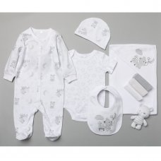 T20191: Baby Unisex Bear 10 Piece Mesh Bag Gift Set (NB-6 Months)