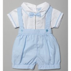 T20204: Baby Boys 2 Piece With Bow Tie Outfit (0-9 Months)
