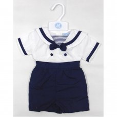 T20205: Baby Boys Sailor 2 Piece Outfit (0-9 Months)