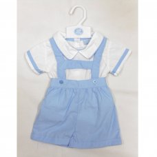 T20215: Baby Boys 2 Piece Outfit With Contrast Colour Piping (0-9 Months)