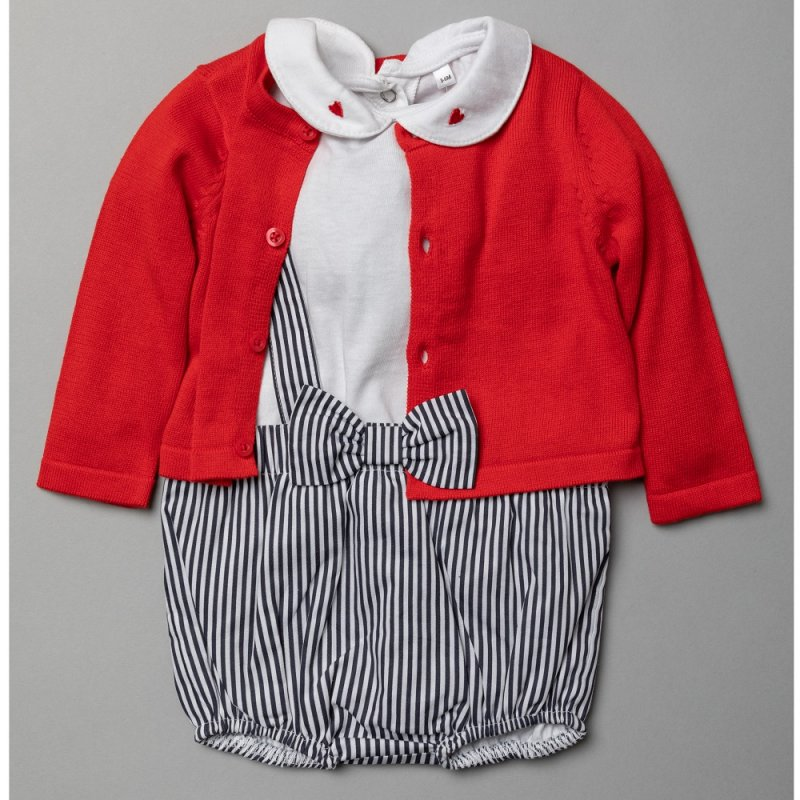 T20220:  Baby Girls Woven 3 Piece Outfit (0-12 Months)