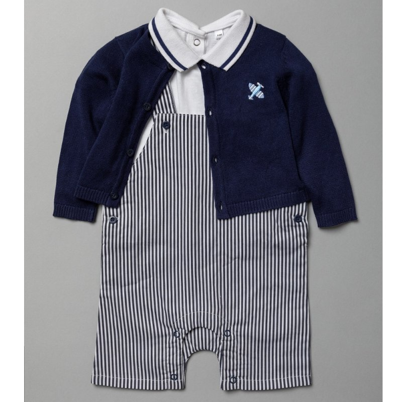 T20241:  Baby Boys Woven 3 Piece Outfit (0-12 Months)