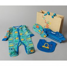 T20279: Baby Boys Transport 6 Piece Mesh Bag Gift Set (NB-6 Months)