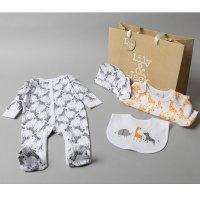 T20280: Baby Unisex Animals 6 Piece Mesh Bag Gift Set (NB-6 Months)