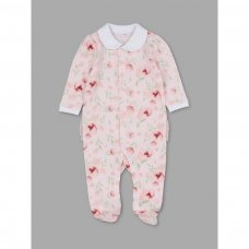 T20281: Baby Girls Floral Cotton All In One (0-12 Months)