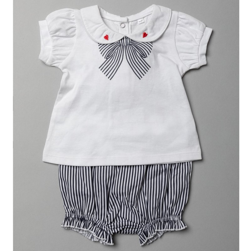 T20285:  Baby Girls Woven 2 Piece Outfit (0-12 Months)