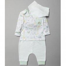 T20292: Baby Unisex Organic Cotton Top, Jog Pant & Bib Outfit (0-18 Months)