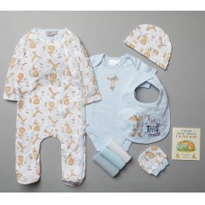T20316: Baby Boys Guess How Much I Love You 10 Piece Mesh Bag Gift Set With Book (NB-6 Months)