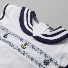 T20319: Baby Boys Smocked Sailor Top & Short On A Satin Padded Hanger (0-12 Months)