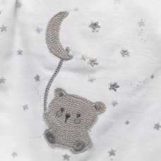 T20329: Baby Unisex Sleepsuit With Crochet Applique On A Satin Padded Hanger  (0-9 Months)