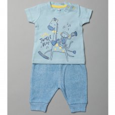 T20346:  Baby Boys Musical Animals T-Shirt & Jog Pant Set (0-12 Months)