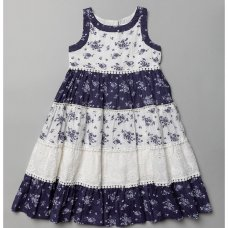 T20354: Girls Cotton Lined All Over Print Dress (3-11 Years)