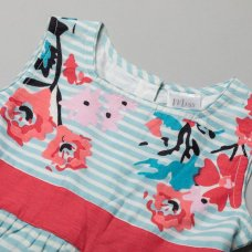 T20355: Girls Cotton Lined All Over Print Dress (3-11 Years)