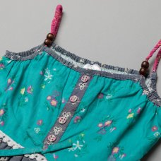 T20357: Girls Cotton Lined All Over Print Dress (3-11 Years)