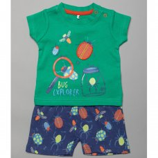T20370:  Baby Boys Bugs T-Shirt & Short Set (0-12 Months)