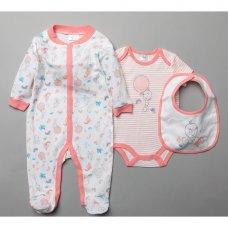 T20394: Baby Tweety 3 Piece All In One, Bodysuit & Bib Set (0-9 Months)