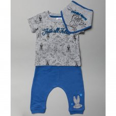 T20411:  Baby Looney Tunes T-Shirt, Jog Pant & Bib Outfit (0-18 Months)