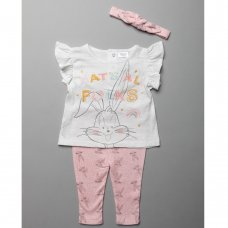 T20446:  Baby Bugs Bunny T-Shirt, Legging & Headband Outfit (3-24 Months)