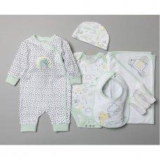 T20469: Baby Unisex Organic Cotton 8 Piece Set (NB-6 Months, Hangers damaged)