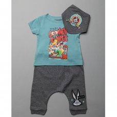 T20505  Baby Looney Tunes T-Shirt, Jog Pant & Bib Outfit (0-18 Months)