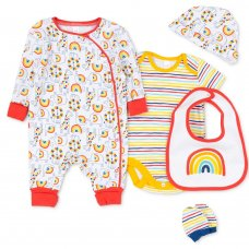 T20528: Baby Unisex Organic Cotton 5 Piece Set (NB-6 Months)