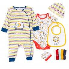 T20531: Baby Unisex Organic Cotton 10 Piece Set (NB-6 Months)