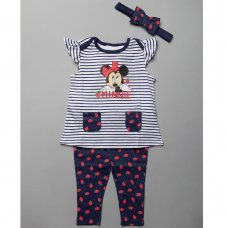 T20635:  Baby Minnie Mouse T-Shirt, Legging & Headband Outfit (3-24 Months)