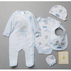 T20688: Baby Boys Humphrey's Corner 7 Piece Mesh Bag Gift Set With Book (NB-6 Months)