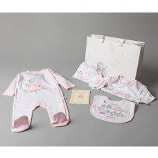 T20689: Baby Girls Humphrey's Corner 7 Piece Mesh Bag Gift Set With Book (NB-6 Months)