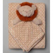 T20694: Baby Boys Lion Comforter & Blanket