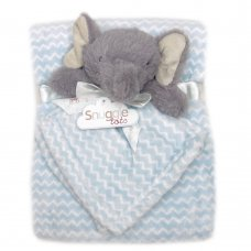 T20695: Baby Boys Elephant Comforter & Blanket