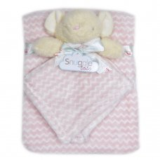 T20697: Baby Girls Mouse Comforter & Blanket