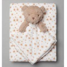 T20698: Baby Unisex Bear Comforter & Blanket